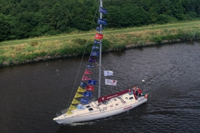 Jahta 'Spaniel' ceļā uz 'The Tall Ships Races'